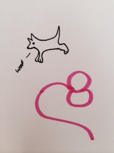 I don't have time to find a royalty free Ebola image, so this drawing of a pink Ebola virus with a dog jumping over it will have to suffice.